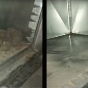 before and after a furnace cleaning